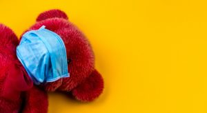 teddy with mask
