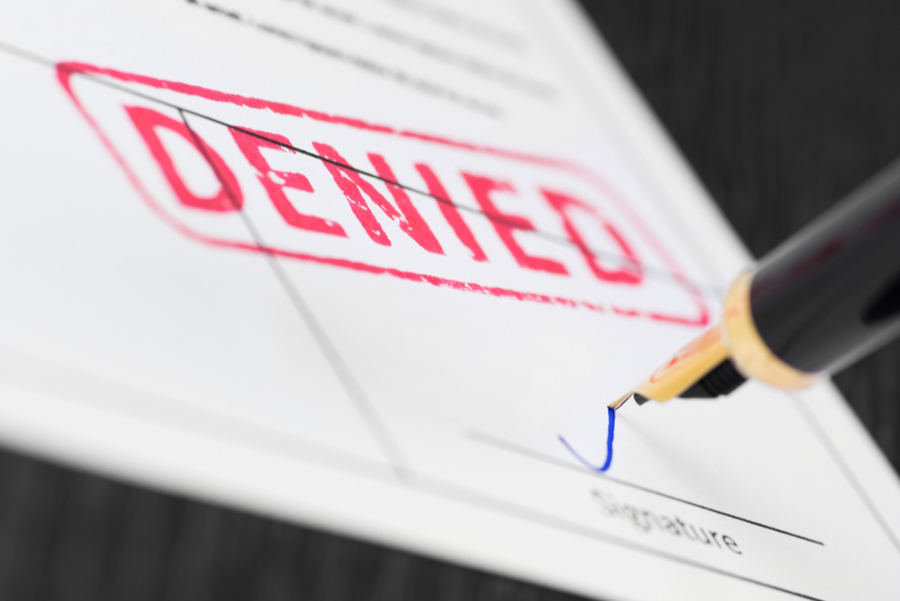 life insurance application is denied